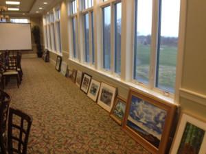 row of paintings